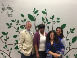Head of school, Peter Katcher and the team of teachers who applied for the grant: (l-r) Natalie Guiteau, Deb Gravina and Flor Placencia